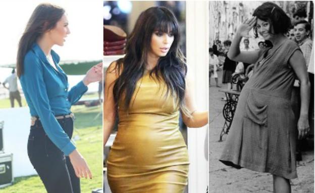 אופנה בהריון אז והיום - סופיה לורן (צילום: גטי אימג'ס/דיילימייל)