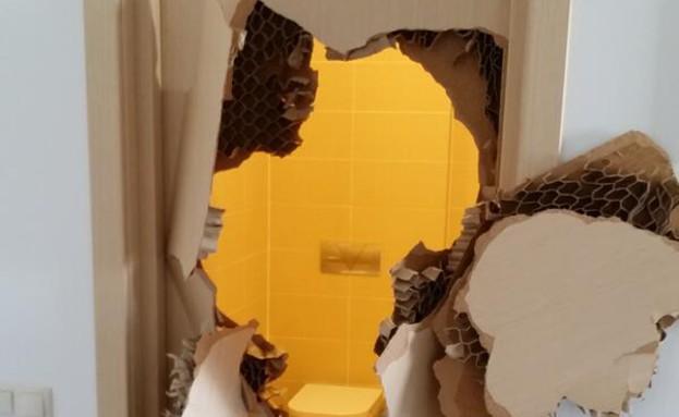 הדלת השבורה בסוצ'י (צילום: טוויטר)