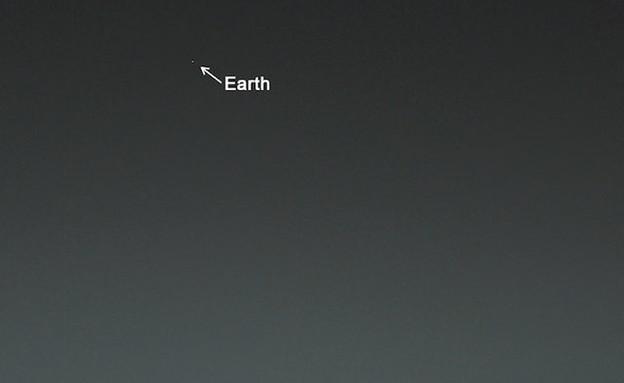 """כדור הארץ ממאדים (צילום: נאס""""א)"""