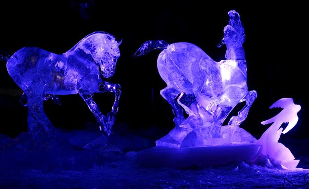 צלילים בקרח מנורבגיה (צילום: רויטרס)
