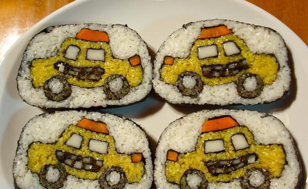 מוניות בסושי (צילום: צילום מסך מהאתר www.boingboing.net)