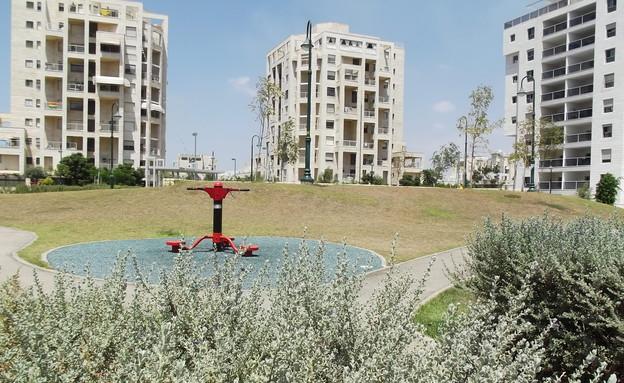 גן ציבורי בשכונת האמנים ברמלה (צילום: צילום באדיבות עריית רמלה)