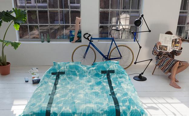 מצעי בריכה, אופניים (צילום: snurkbeddengoed.nl)