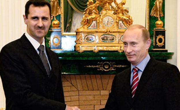 הנשיא פוטין עם הנשיא המתנדנד אסד (צילום: AP)