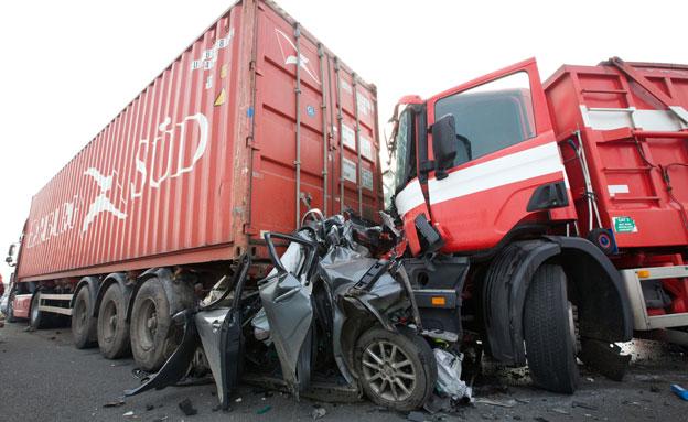 תאונה בלגיה (צילום: רויטרס)