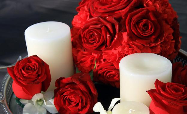 סידור פרחים, רומנטיקה במיטבה (צילום: רונית לוין)