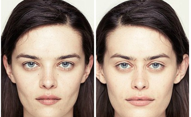 הסימטריה של הפנים (צילום: Alex John Beck)