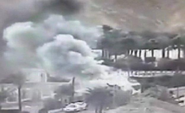 הפיצוץ דרך מצלמת האבטחה