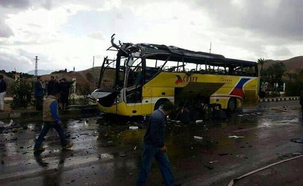 הפיגוע במסוף טאבה, אתמול (צילום: חדשות 2)