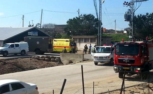שני גברים התחשמלו בקיבוץ בצפון. קיבוץ אורטל , היום (צילום: חדשות 2)