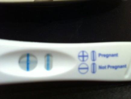 שלי ורוד - בדיקת הריון (צילום: צילום ביתי)