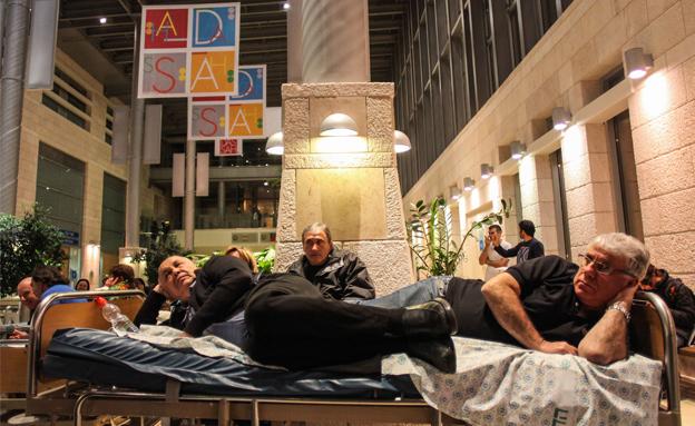 צפו בשעות הדרמטיות בבית החולים (צילום: פלאש 90)