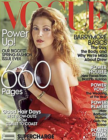 טיימליין דרו ברימור (צילום: Vogue)