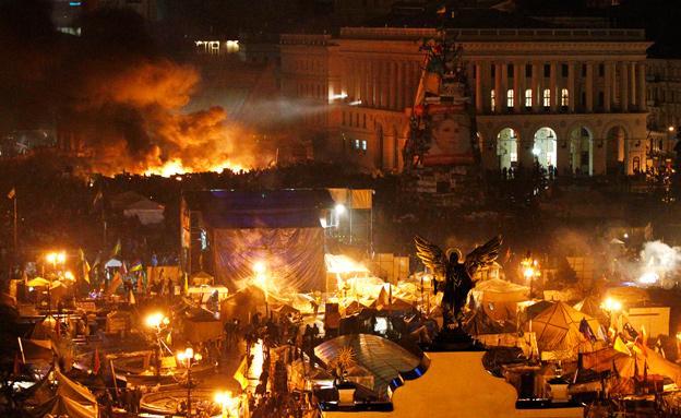 עימותים קשים באוקראינה (צילום: רויטרס)