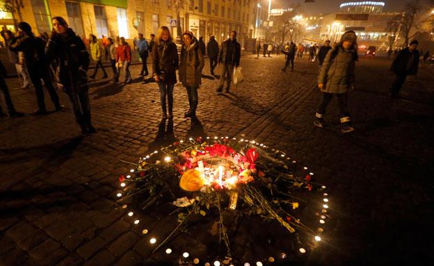 קייב אוקריאנה נרות (צילום: חדשות 2)