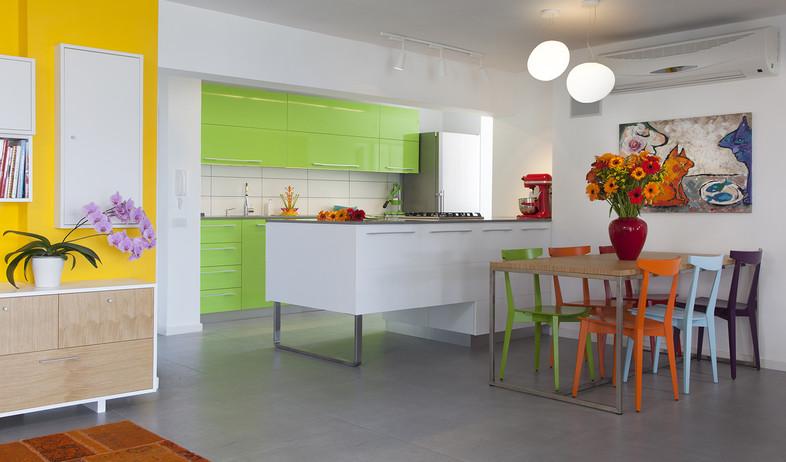 שדרוג בצבע, עמטבח שולחן, יצוב פנים ואדריכלות שירלי (צילום: שי אפשטיין)