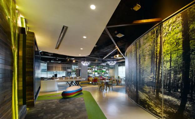 משרדי גוגל חדש, קיר (צילום: indesignlive.sg)