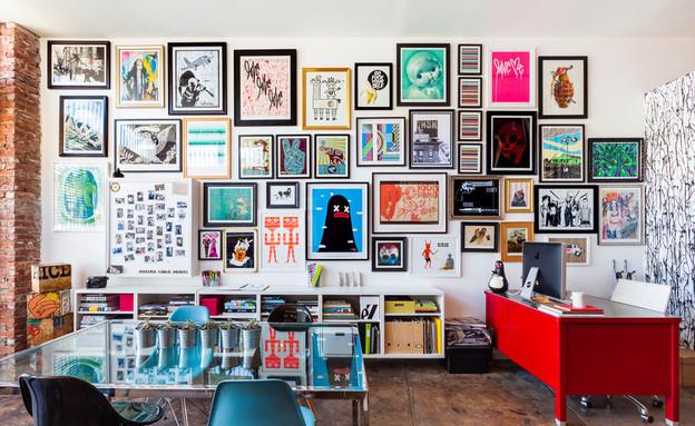 קיר תמונות, האקספרסיבי (צילום: מתוך posterchildprints.com)