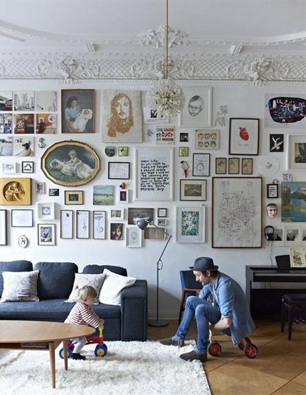 קיר תמונות, הבוהמייני (צילום: planete-deco.fr)