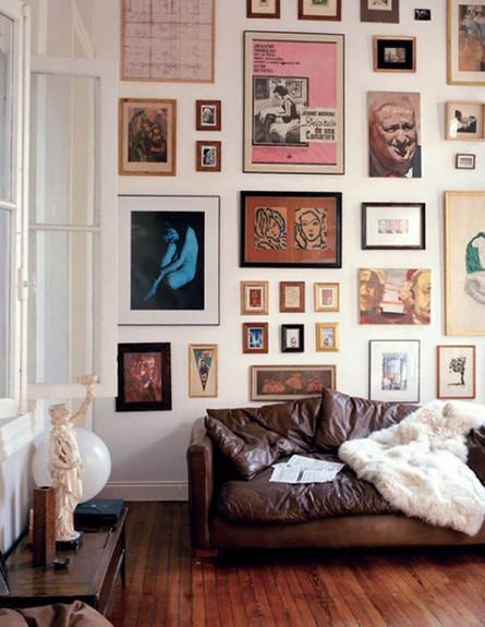 קיר תמונות, הבוהמייני (צילום:  מתוך Remainsimple.tmblr.com)