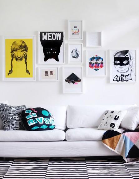 קיר תמונות, הגרפי (צילום: clickinteriores.com)