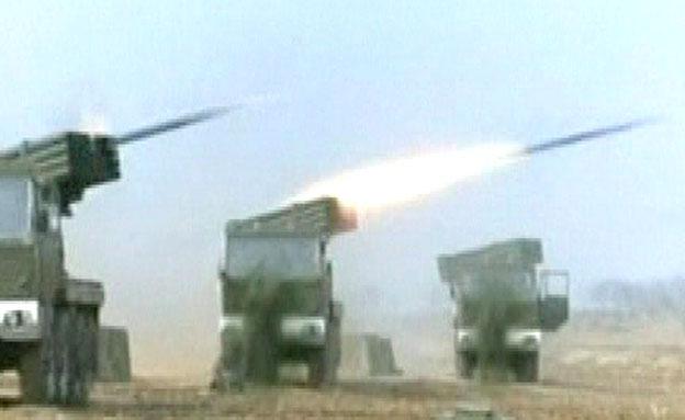 שיגור טילים קצרי טווח בקוריאה (צילום: חדשות 2)