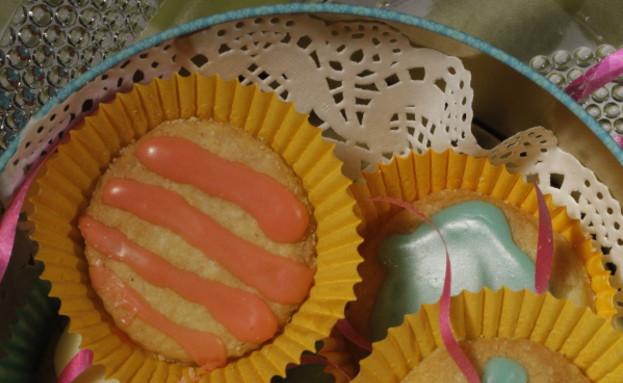 עוגיות חמאה מצופות סוכר צבעוני של מסרט וולדמיכאל (צילום: דניאל בר און)