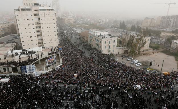 עצרת ההמונים החרדית אתמול (צילום: מרים אלסטר, פלאש 90)