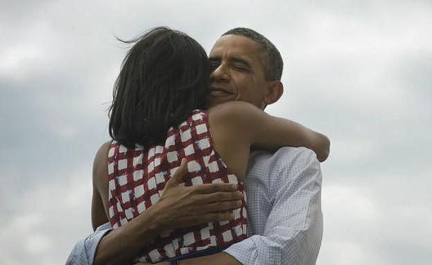 ברק ומישל אובמה (צילום: twitter)