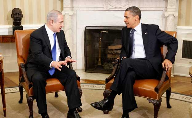 אין ערבות אמריקנית. נתניהו ואובמה (צילום: AP)
