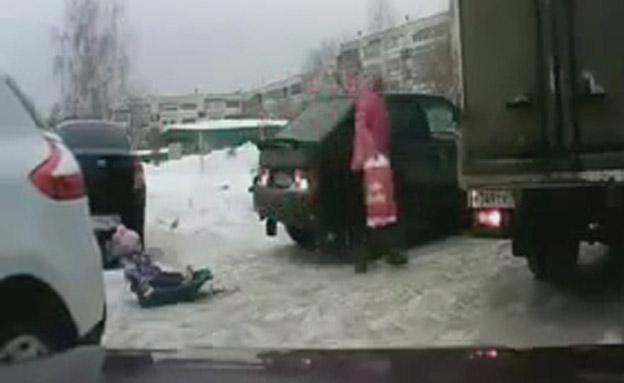 צפו בתאונה