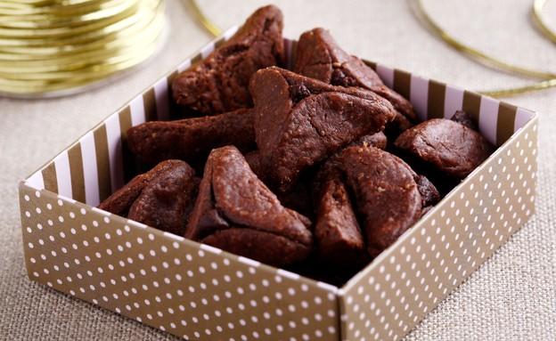 אוזני המן מבצק שוקולד במלית שוקולד של אורן בקר ציל (צילום: אפיק גבאי)