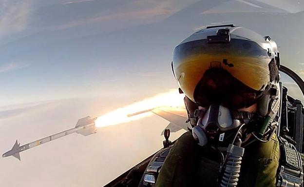 טייס סלפי (צילום: RDAF)