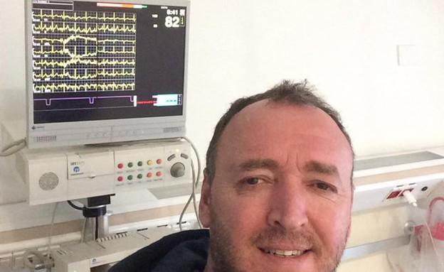 שלום אסייג בבית חולים (צילום: מתוך הפייסבוק של של שלום אסייג)