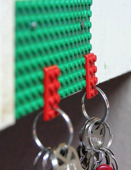lego-key-holdersפטנטים ממוחזרים, לגו (צילום: lego-key-holders)