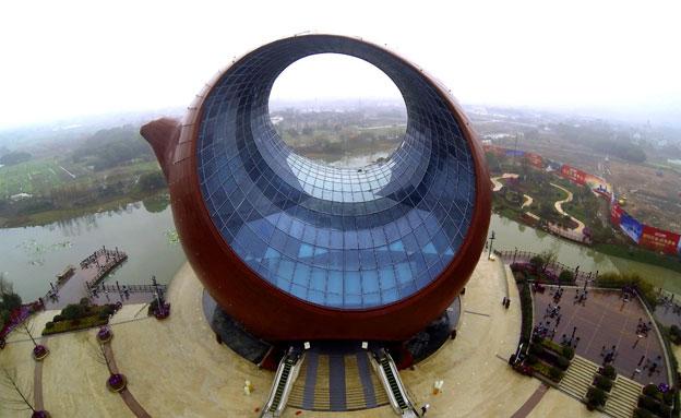 צפו: בית בצורת קנקן תה נחנך בסין (צילום: רויטרס)