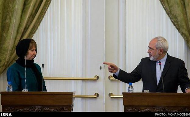 אשטון וזריף בטהרן, היום (צילום: טוויטר)