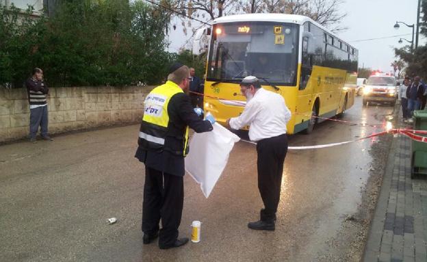 זירת התאונה בגליל (צילום: גדעון וקנין)