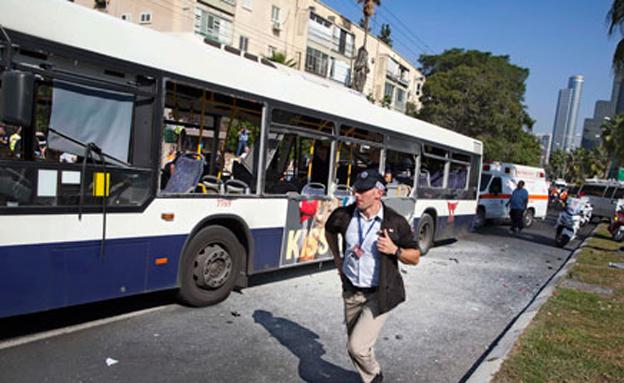 פיגוע התאבדות בתל אביב (צילום: חדשות 2)