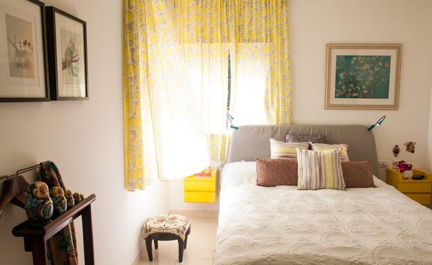 סטפני בשיפוץ, חדר שינה (צילום: yoray Libermann)