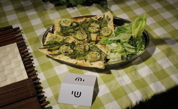 פיצה לבנה של שי טובול (צילום: דניאל בר און)