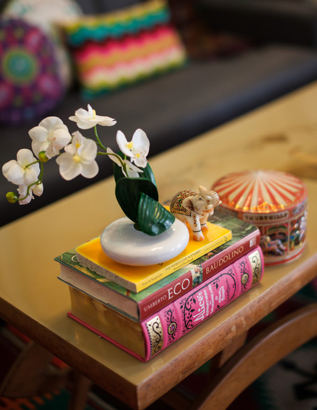 סטפני בשיפוץ, סלון שולחן גובה (צילום: yoray Libermann)