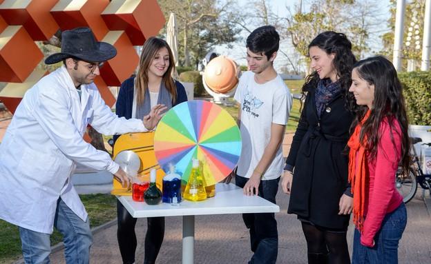 מסובבים צבעים בגן המדע, פעילויות פורים (צילום: צילום איתי בלסון)