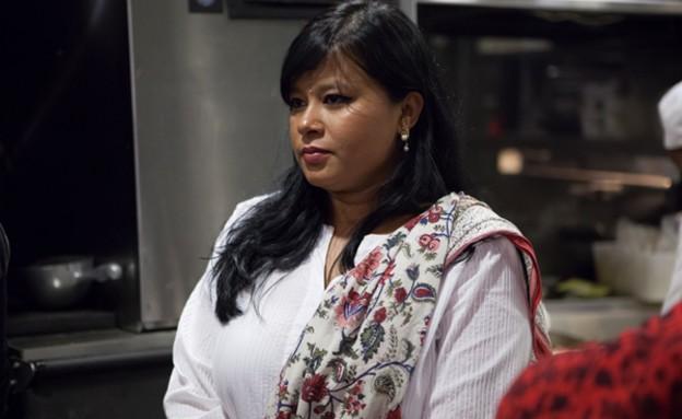 סרנדה דילבסקי במטבח של טאיזו (צילום: צופית בראבי)