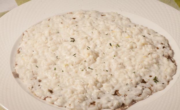 ריזוטו גבינת עיזים עם הל וקפה של מסרט וולדמיכאל (צילום: דניאל בר און)