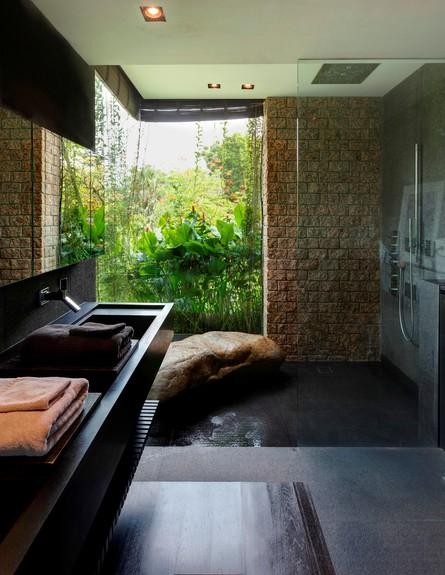 בית חלומות סינגפור, חדר רחצה גובה (צילום: Sanjay Kewlani)