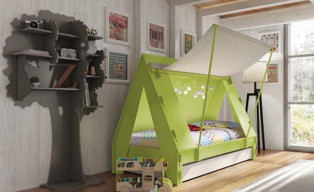 מיטות ילדים, אוהל  (צילום: Cuckooland.com)