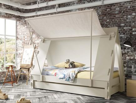 מיטות ילדים, אוהל לבן,