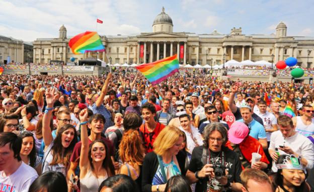 מצעד הגאווה בלונדון. (צילום: אימג'בנק/GettyImages, getty images)
