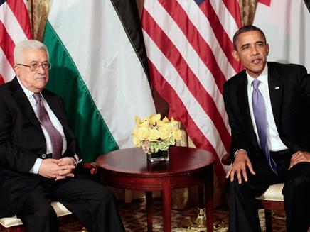 הנשיא אובמה בפגישה עם אבו מאזן בוושינגטו (צילום: AP)